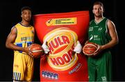 5 September 2018; Mouth-watering opening round Hula Hoops National Cup clash in store as Tralee drawn against Templeogue and Glanmire face Killester. There will be a mouth-watering opening to the 2018/19 Hula Hoops Men's National Cup this season as reigning champions Templeogue will host Garvey's Tralee Warriors in a hugely-anticipated clash. The draw was made at the National Basketball Arena in Tallaght this afternoon as part of the official launch of the 2018/19 Basketball Ireland season, which sees a huge 49 clubs competing in the senior National League and Cups this year.   Today's Cup draws dished up a number of interesting clashes across the board, with last year's Pat Duffy Cup runners up UCD Marian facing Moycullen, while Belfast Star will host Neptune. In the Women's National Cup there are some big clashes in store with the draw pitting Ambassador UCC Glanmire against Pyrobel Killester in the opening round, while Marble City Hawks and Fr Mathews – who met each other five times last season between the Cup and the regular season, and have faced each other every year for the past four years in National Cup – will face each other yet again. Pictured are Cam Smith of UCD Marian and Dylan Cunningham of Moycullen. Photo by Sam Barnes/Sportsfile