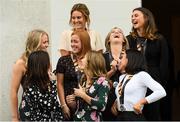 7 September 2018; Members of the Ireland team during a reception to honour the Ireland Women's Hockey team and their performance at the 2018 Women's Hockey World Cup at Áras an Uachtaráin in Phoenix Park, Dublin. Photo by Piaras Ó Mídheach/Sportsfile