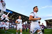 7 September 2018; Jordi Murphy, right, and John Cooney of Ulster run out ahead of the Guinness PRO14 Round 2 match between Ulster and Edinburgh at the Kingspan Stadium in Belfast. Photo by Ramsey Cardy/Sportsfile