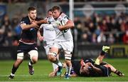 7 September 2018; Jordi Murphy of Ulster is tackled by Luke Hamilton of Edinburgh during the Guinness PRO14 Round 2 match between Ulster and Edinburgh Rugby at the Kingspan Stadium in Belfast. Photo by Oliver McVeigh/Sportsfile