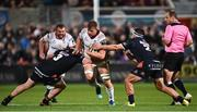 7 September 2018; Jordi Murphy of Ulster is tackled by WP Nel, left, and Stuart McInally of Edinburgh during the Guinness PRO14 Round 2 match between Ulster and Edinburgh Rugby at the Kingspan Stadium in Belfast. Photo by Oliver McVeigh/Sportsfile