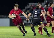7 September 2018; Stephen Archer of Munster in action against Fraser Brown of Glasgow Warriors during the Guinness PRO14 Round 2 match between Glasgow Warriors and Munster at Scotstoun Stadium in Glasgow, Scotland. Photo by Kenny Smith/Sportsfile