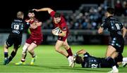 7 September 2018; Shane Daly of Munster is tackled by Pete Horne of Glasgow Warriors during the Guinness PRO14 Round 2 match between Glasgow Warriors and Munster at Scotstoun Stadium in Glasgow, Scotland. Photo by Kenny Smith/Sportsfile