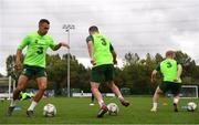 8 September 2018; Graham Burke, left, during a Republic of Ireland training session at Dragon Park in Newport, Wales. Photo by Stephen McCarthy/Sportsfile