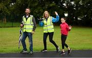 8 September 2018; parkrun Ireland in partnership with Vhi, added their 96th event on Saturday, 8th September, with the introduction of the Mungret parkrun in Co. Limerick. parkruns take place over a 5km course weekly, are free to enter and are open to all ages and abilities, providing a fun and safe environment to enjoy exercise. To register for a parkrun near you visit www.parkrun.ie. Pictured are volunteer Enda Power, from Mungret, with Lavinia Ryan-Duggan from Vhi with her daughter Sophie Duggan, from Corbally, during the Mungret parkrun. Photo by Diarmuid Greene/Sportsfile
