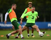8 September 2018; Richard Keogh, left, in action against David Meyler during a Republic of Ireland training session at Dragon Park in Newport, Wales. Photo by Stephen McCarthy/Sportsfile