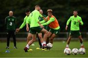 8 September 2018; Players, from left, John Egan, David Meyler, Callum Robinson and Conor Hourihane during a Republic of Ireland training session at Dragon Park in Newport, Wales. Photo by Stephen McCarthy/Sportsfile