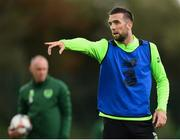 8 September 2018; Shane Duffy during a Republic of Ireland training session at Dragon Park in Newport, Wales. Photo by Stephen McCarthy/Sportsfile