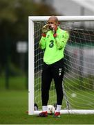 8 September 2018; Darren Randolph during a Republic of Ireland training session at Dragon Park in Newport, Wales. Photo by Stephen McCarthy/Sportsfile