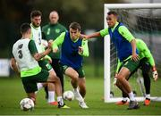 8 September 2018; Seamus Coleman with Shaun Williams, left, and Graham Burke, right, during a Republic of Ireland training session at Dragon Park in Newport, Wales. Photo by Stephen McCarthy/Sportsfile