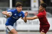 8 September 2018; Max O'Reilly of Leinster gets away from Timmy Duggan of Munster during the U19 Interprovincial Championship match between Leinster and Munster at Energia Park in Dublin. Photo by Piaras Ó Mídheach/Sportsfile