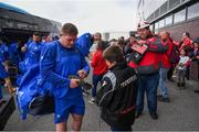 8 September 2018; Tadhg Furlong of Leinster signs an autograph for a Scarlets supporter prior to the Guinness PRO14 Round 2 match between Scarlets and Leinster at Parc y Scarlets in Llanelli, Wales. Photo by Stephen McCarthy/Sportsfile