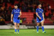 8 September 2018; Fergus McFadden, left, and Robbie Henshaw of Leinster following the Guinness PRO14 Round 2 match between Scarlets and Leinster at Parc y Scarlets in Llanelli, Wales. Photo by Stephen McCarthy/Sportsfile