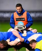 8 September 2018; Leinster scrum coach John Fogarty during the Guinness PRO14 Round 2 match between Scarlets and Leinster at Parc y Scarlets in Llanelli, Wales. Photo by Stephen McCarthy/Sportsfile