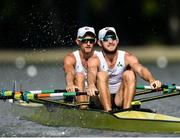 9 September 2018; Paul O'Donovan, front, and Gary O'Donovan competing in the Lightweight Men's Double Sculls heat event during day one of the World Rowing Championships in Plovdiv, Bulgaria. Photo by Seb Daly/Sportsfile