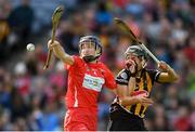 9 September 2018; Pamela Mackey of Cork in action against Katie Power of Kilkenny during the Liberty Insurance All-Ireland Senior Camogie Championship Final match between Cork and Kilkenny at Croke Park in Dublin. Photo by Piaras Ó Mídheach/Sportsfile