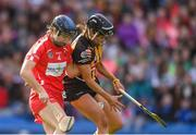 9 September 2018; Katie Power of Kilkenny in action against Pamela Mackey of Cork during the Liberty Insurance All-Ireland Senior Camogie Championship Final match between Cork and Kilkenny at Croke Park in Dublin. Photo by Piaras Ó Mídheach/Sportsfile