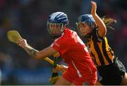 9 September 2018; Ashling Thompson of Cork in action against Katie Power of Kilkenny during the Liberty Insurance All-Ireland Senior Camogie Championship Final match between Cork and Kilkenny at Croke Park in Dublin. Photo by Piaras Ó Mídheach/Sportsfile