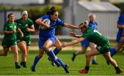 9 September 2018; Hannah Tyrrell of Leinster beats the tackle of Mairead Coyne of Connacht during the 2018 Women's Interprovincial Rugby Championship match between Connacht and Leinster at the Sportgrounds in Galway. Photo by Brendan Moran/Sportsfile
