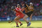 9 September 2018; Amy O'Connor of Cork in action against Anne Dalton of Kilkenny during the Liberty Insurance All-Ireland Senior Camogie Championship Final match between Cork and Kilkenny at Croke Park in Dublin. Photo by Piaras Ó Mídheach/Sportsfile