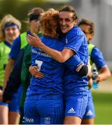 9 September 2018; Juliet Short, left, and Hannah Tyrrell of Leinster celebrate after the 2018 Women's Interprovincial Rugby Championship match between Connacht and Leinster at the Sportgrounds in Galway. Photo by Brendan Moran/Sportsfile