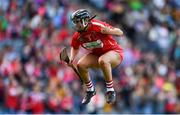 9 September 2018; Laura Treacy of Cork celebrates at the final whistle following the Liberty Insurance All-Ireland Senior Camogie Championship Final match between Cork and Kilkenny at Croke Park in Dublin. Photo by David Fitzgerald/Sportsfile