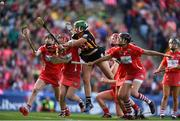 9 September 2018; Miriam Walsh of Kilkenny has a shot on goal which was subsequently saved by Aoife Murray of Cork during the Liberty Insurance All-Ireland Senior Camogie Championship Final match between Cork and Kilkenny at Croke Park in Dublin. Photo by David Fitzgerald/Sportsfile
