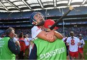 9 September 2018; Niamh Ní Chaoimh of Cork celebrates with mentor George Fitzgibbon after the Liberty Insurance All-Ireland Intermediate Camogie Championship Final match between Cork and Down at Croke Park in Dublin. Photo by Piaras Ó Mídheach/Sportsfile