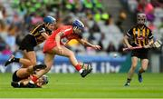 9 September 2018; Ashling Thompson of Cork in action against Anne Dalton of Kilkenny during the Liberty Insurance All-Ireland Senior Camogie Championship Final match between Cork and Kilkenny at Croke Park in Dublin. Photo by Piaras Ó Mídheach/Sportsfile