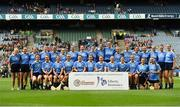 9 September 2018; The Dublin squad before the Liberty Insurance All-Ireland Premier Junior Camogie Championship Final match between Dublin and Kerry at Croke Park in Dublin. Photo by Piaras Ó Mídheach/Sportsfile