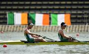 10 September 2018; Mark O'Donovan, left, and Shane O'Driscoll of Ireland on their way to finishing second in their Men's Pair repechage race during day two of the World Rowing Championships in Plovdiv, Bulgaria. Photo by Seb Daly/Sportsfile