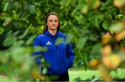 10 September 2018; Michelle Claffey poses for a portrait following a Leinster Rugby press conference at Leinster Rugby Headquarters in Dublin. Photo by Ramsey Cardy/Sportsfile