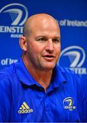 10 September 2018; Head coach Ben Armstrong during a Leinster Rugby press conference at Leinster Rugby Headquarters in Dublin. Photo by Ramsey Cardy/Sportsfile