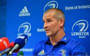 10 September 2018; Senior coach Stuart Lancaster during a Leinster Rugby press conference at Leinster Rugby Headquarters in Dublin. Photo by Ramsey Cardy/Sportsfile