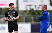 10 September 2018; Jonathan Sexton in conversation with Senior coach Stuart Lancaster during Leinster Rugby squad training at Energia Park in Donnybrook, Dublin. Photo by Ramsey Cardy/Sportsfile