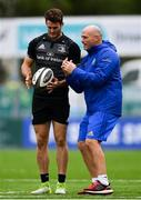 10 September 2018; Backs coach Felipe Contepomi in conversation with Jack Kelly during Leinster Rugby squad training at Energia Park in Donnybrook, Dublin. Photo by Ramsey Cardy/Sportsfile