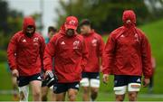 10 September 2018; Munster players including CJ Stander, right, arrive for squad training at the University of Limerick in Limerick. Photo by Diarmuid Greene/Sportsfile