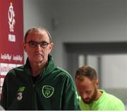 10 September 2018; Republic of Ireland manager Martin O'Neill arrives for a Republic of Ireland press conference at Municipal Stadium in Wroclaw, Poland. Photo by Stephen McCarthy/Sportsfile