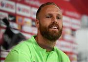 10 September 2018; David Meyler during a Republic of Ireland press conference at Municipal Stadium in Wroclaw, Poland. Photo by Stephen McCarthy/Sportsfile