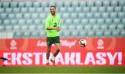 10 September 2018; Conor Hourihane during a Republic of Ireland training session at Municipal Stadium in Wroclaw, Poland. Photo by Stephen McCarthy/Sportsfile