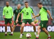 10 September 2018; Ciaran Clark, centre, with David Meyler, left, and Alan Judge, right, during a Republic of Ireland training session at Municipal Stadium in Wroclaw, Poland. Photo by Stephen McCarthy/Sportsfile