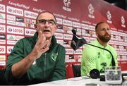 10 September 2018; Republic of Ireland manager Martin O'Neill and David Meyler, right, during a Republic of Ireland press conference at Municipal Stadium in Wroclaw, Poland. Photo by Stephen McCarthy/Sportsfile