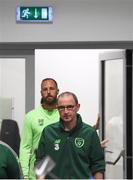 10 September 2018; Republic of Ireland manager Martin O'Neill and David Meyler arrive for a Republic of Ireland press conference at Municipal Stadium in Wroclaw, Poland. Photo by Stephen McCarthy/Sportsfile