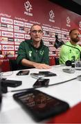 10 September 2018; Republic of Ireland manager Martin O'Neill and David Meyler during a Republic of Ireland press conference at Municipal Stadium in Wroclaw, Poland. Photo by Stephen McCarthy/Sportsfile