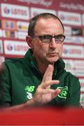 10 September 2018; Republic of Ireland manager Martin O'Neill during a Republic of Ireland press conference at Municipal Stadium in Wroclaw, Poland. Photo by Stephen McCarthy/Sportsfile