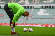 10 September 2018; Darren Randolph during a Republic of Ireland training session at Municipal Stadium in Wroclaw, Poland. Photo by Stephen McCarthy/Sportsfile