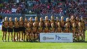 9 September 2018; The Kilkenny squad prior to the Liberty Insurance All-Ireland Senior Camogie Championship Final match between Cork and Kilkenny at Croke Park in Dublin. Photo by David Fitzgerald/Sportsfile