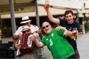 11 September 2018; Republic of Ireland supporters Gerry Daly, from Tullamore, Offaly, and Tadhg Concannon, right, from Carrigaholt, Clare, ahead of the International Friendly match between Poland and Republic of Ireland at the Stadion Miejski in Wroclaw, Poland. Photo by Stephen McCarthy/Sportsfile
