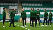 11 September 2018; Republic of Ireland players walk the pitch prior to the UEFA European U21 Championship Qualifier Group 5 match between Republic of Ireland and Germany at Tallaght Stadium in Tallaght, Dublin. Photo by Brendan Moran/Sportsfile