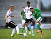 11 September 2018; Jake Mulraney of Republic of Ireland in action against Timo Baumgartl of Germany during the UEFA European U21 Championship Qualifier Group 5 match between Republic of Ireland and Germany at Tallaght Stadium in Tallaght, Dublin. Photo by Brendan Moran/Sportsfile